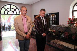 Delegacija opštine Gacko je položila cveće u spomen-sobi