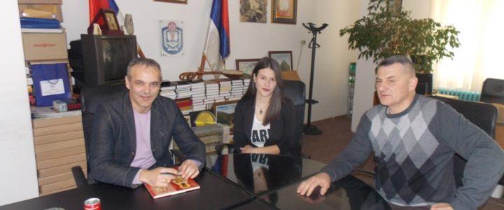 Prijem za Ivanu Lažetić u kabinetu načelnika opštine