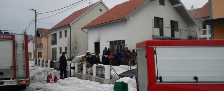 Požar u porodičnoj kući, jedno lice povređeno