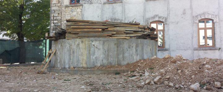 Radovi na Spomeniku palim borcima u Gacku