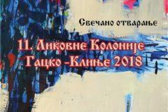 """11. Likovna kolonija """"Gacko -Klinje 2018"""""""