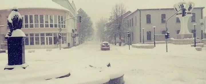 Snježno jutro u Gacku